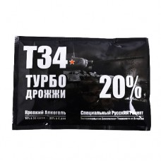 Дрожжи спиртовые ALCOTEC TURBO T-34, 155г.